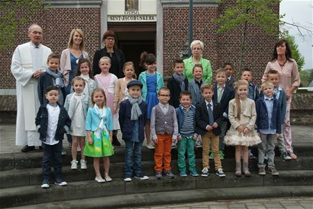20 communicantjes in Eversel