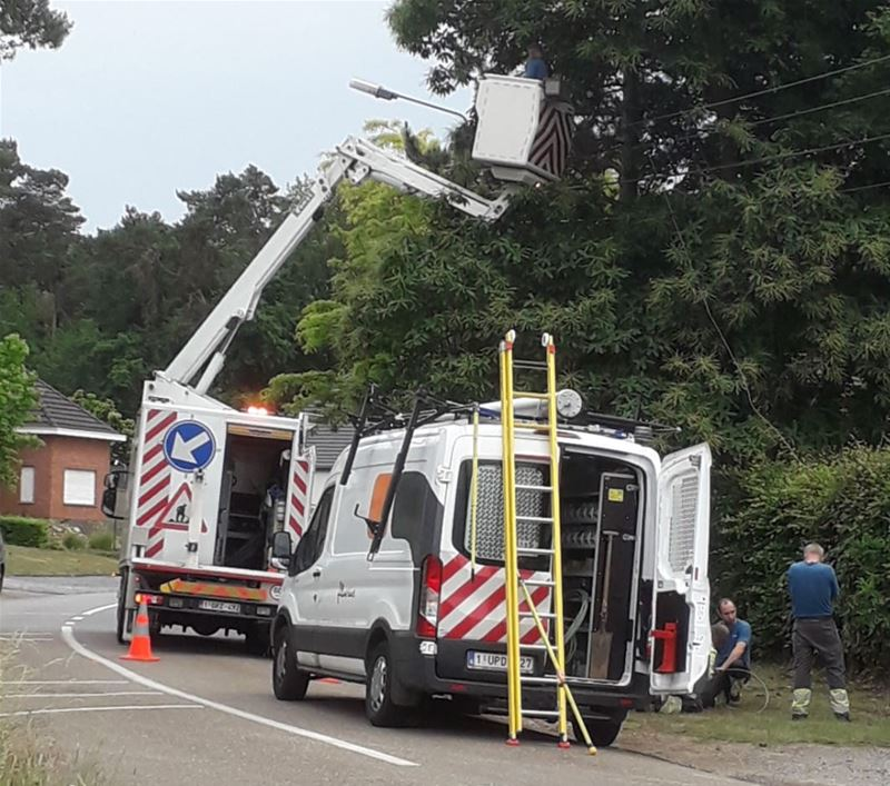 Stroompanne na incident in Eversel